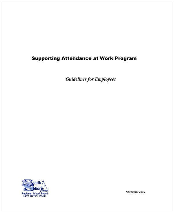 Attendance Guidelines & Action Plan for Employees