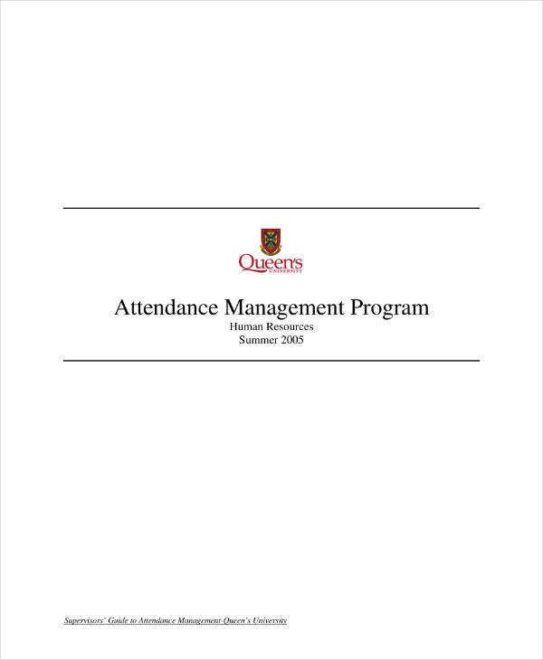 Attendance Management Program Action Plan
