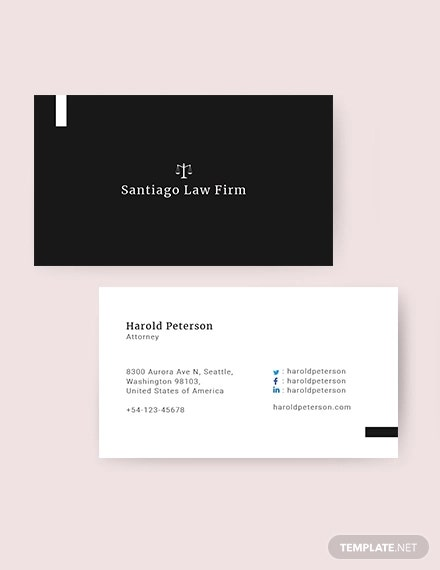 attorney business card template in publisher ms word