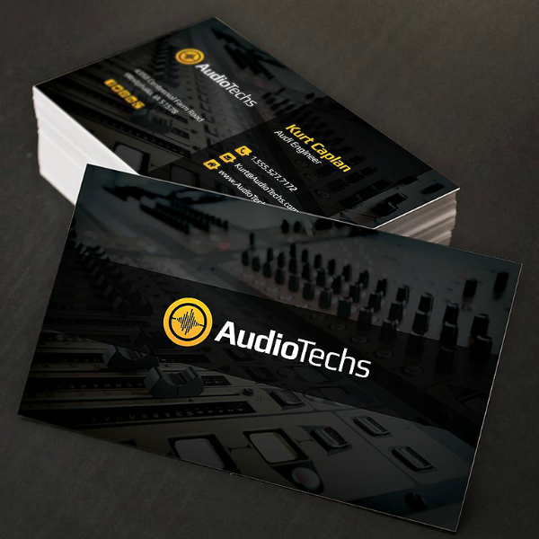 AudioTech Engineer Business Card Template