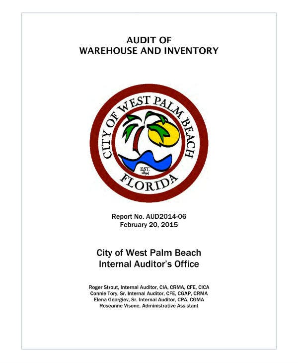 audit of warehouse and inventory report
