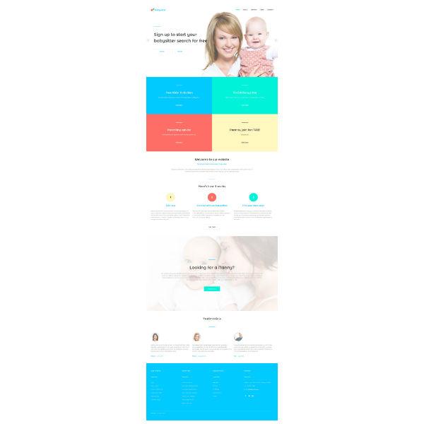 baby sitter responsive website template