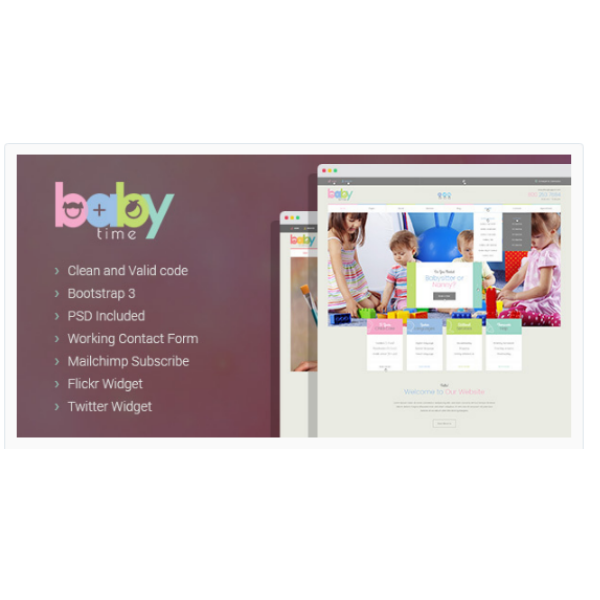 BabyTime - Babysitter Nurse and Preschool Education HTML Template