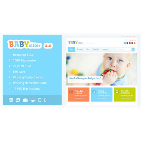 babysitter responsive html template
