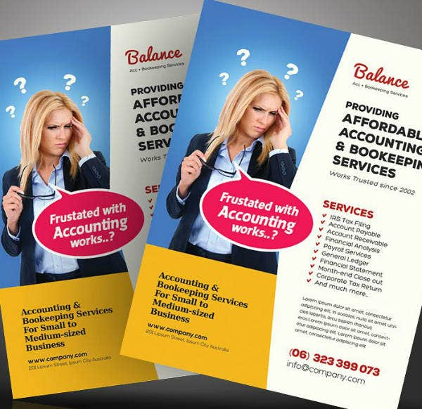 Balance Accounting Services Flyer Template