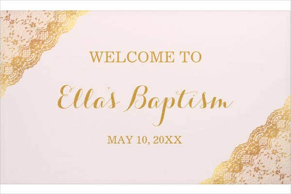 baptism banner sample