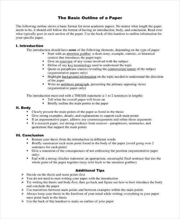 10+ Essay Proposal Outline Templates - PDF, DOC