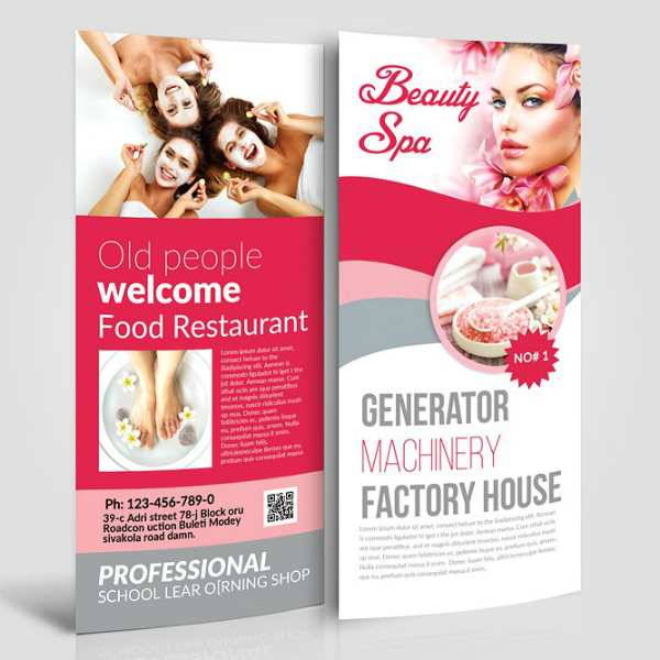 Beauty Spa Salon Rack Card Template
