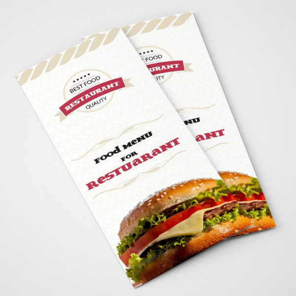Best Foods Trifold Brochure Template