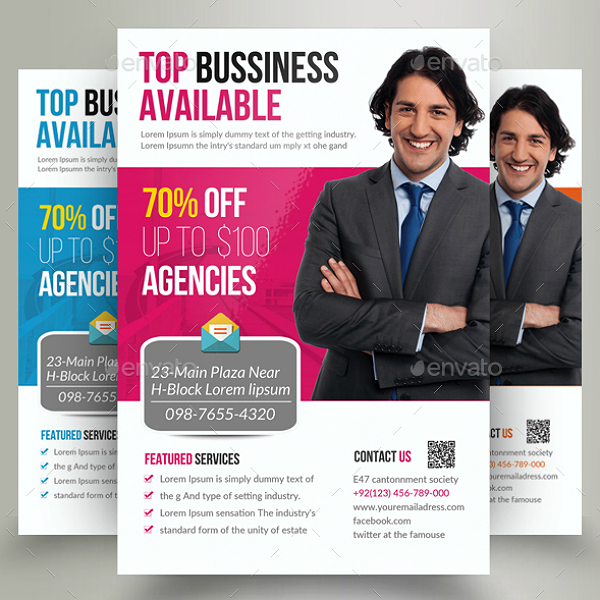 Best Marketing Consultants Agency Flyer Template