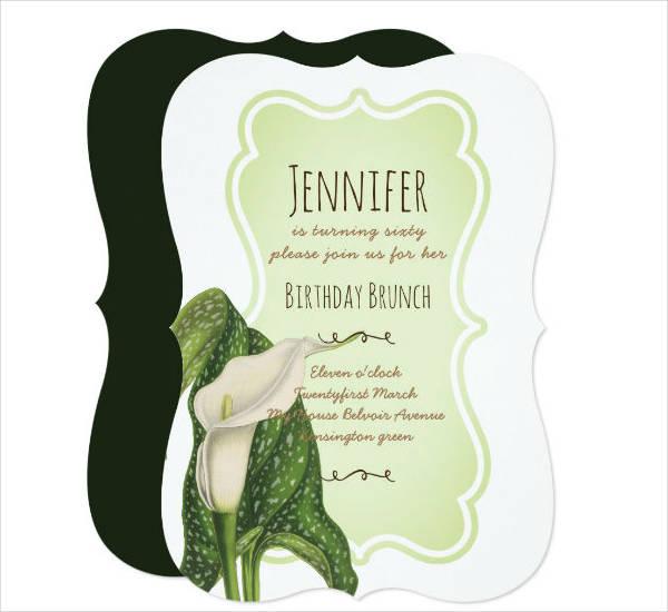 Birthday Brunch Party Invitation Card