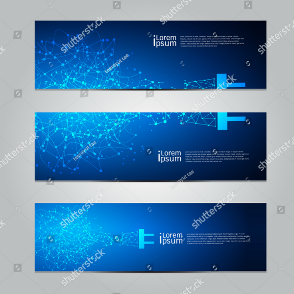 Blue Background Technology Banner Template