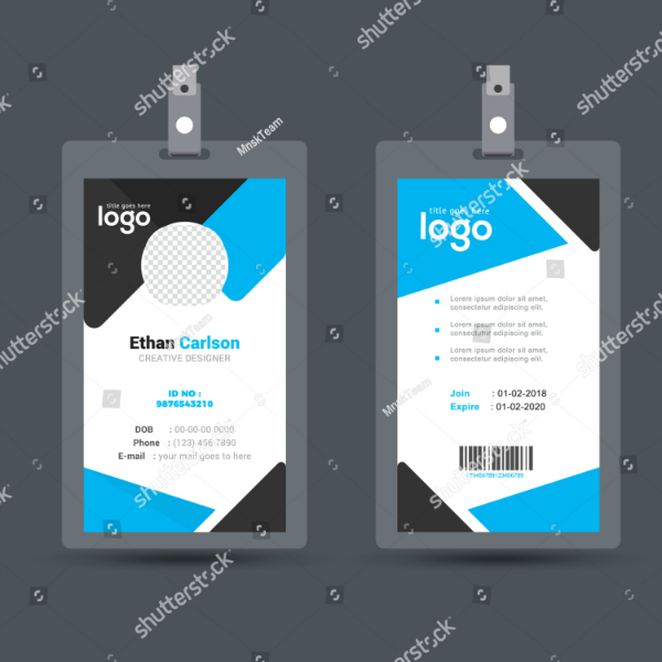 16  vertical identification card designs  u0026 templates