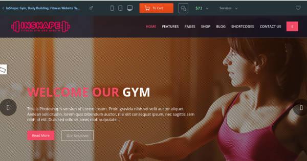 body-building-website-template