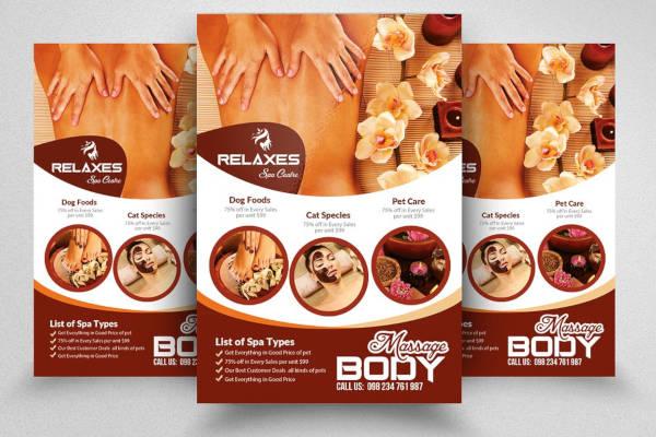 Body Treatment Flyer Example