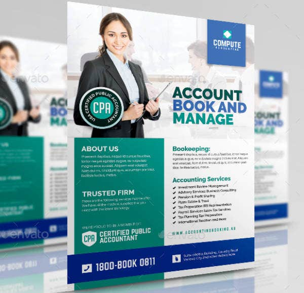 Bookkeeping Accounting Services Flyer