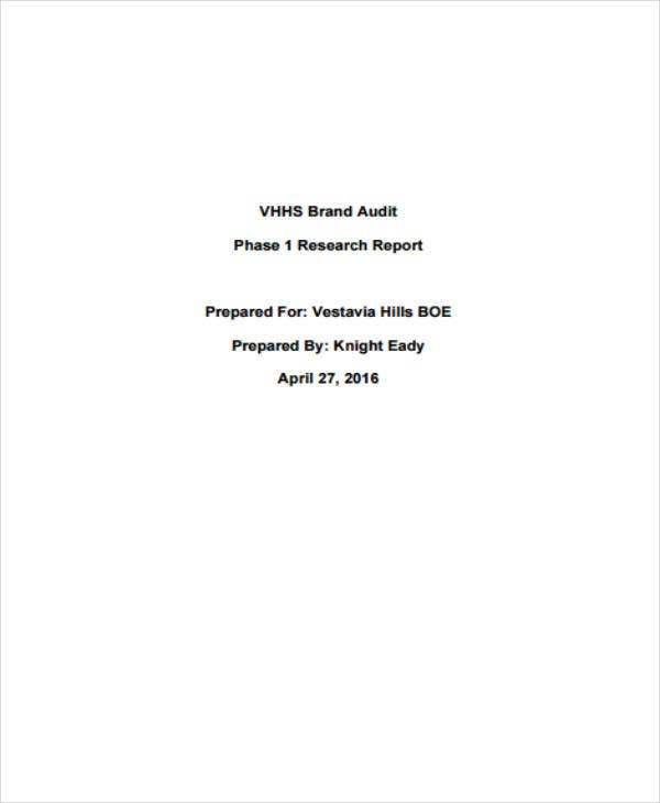 Brand Audit Report Format