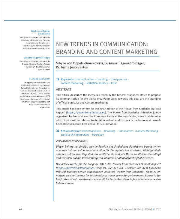 branding and content marketing plan