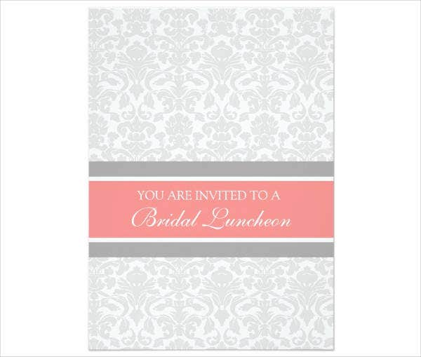 Bridal Lunch Party Invitation Example