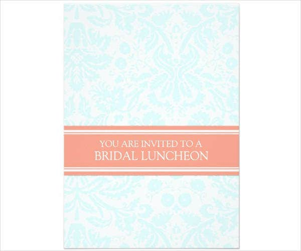 Bridal Lunch Party Invitation Template