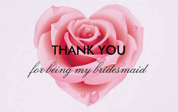 Bridesmaid Thank You Card Design