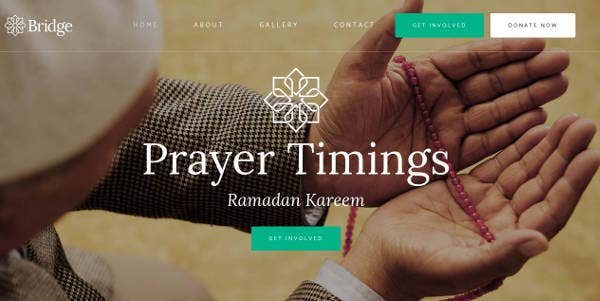 Bridge Mosque Website Design