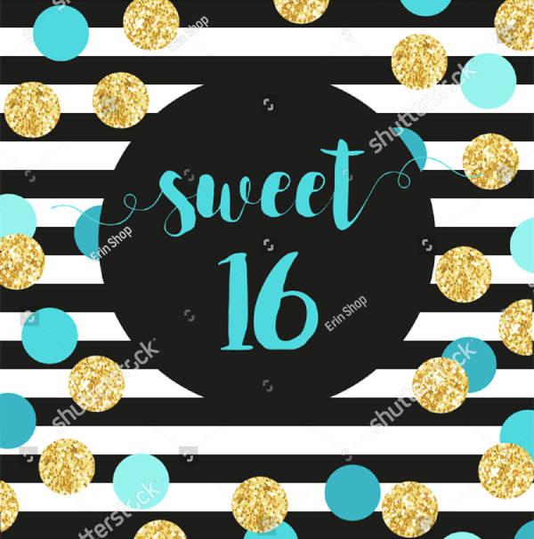 bright sweet sixteen banner design1