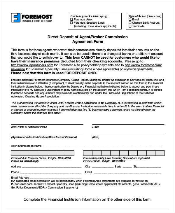10 Agent Commission Agreement Templates Word Apple Pages
