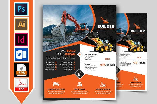 Builder Construction Firm Flyer Template