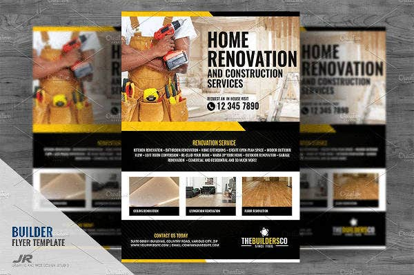 Builders Company Flyer Template