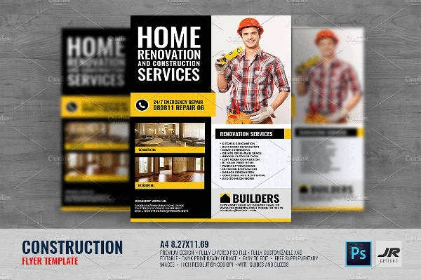 Builders Renovation Construction Flyer