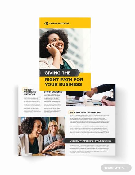 business analyst bi fold brochure template