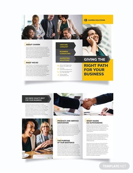 business analyst tri fold brochure template