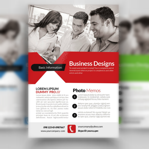 Business Designs Marketing Consultants Flyer Template