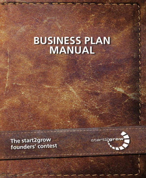 Business Plan Manual Sample