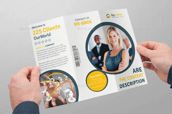 business tri fold brochure example