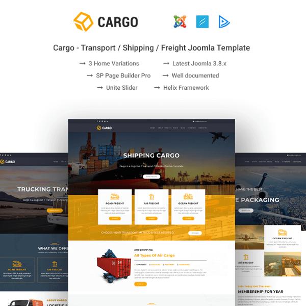 Cargo Transport Logistics Website Template