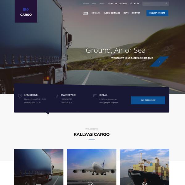 CargoFleet Logistics Company Website Template