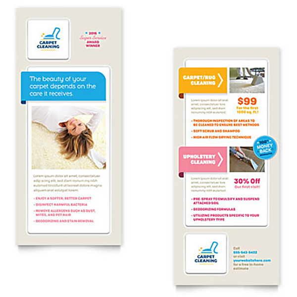 Carpet Cleaning Service Rack Card Template