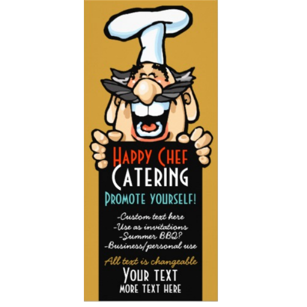 catering business promotion menu chef customizable