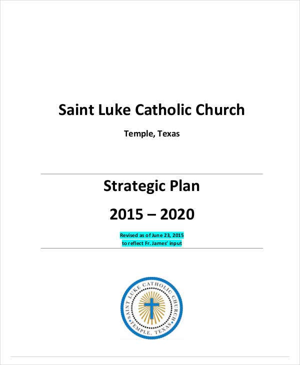 catholic church strategic plan