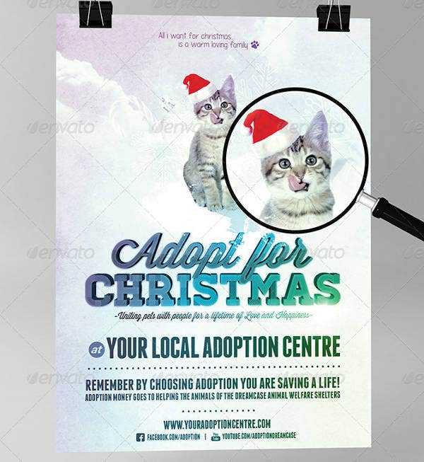 Cats Dogs Adopt Flyer