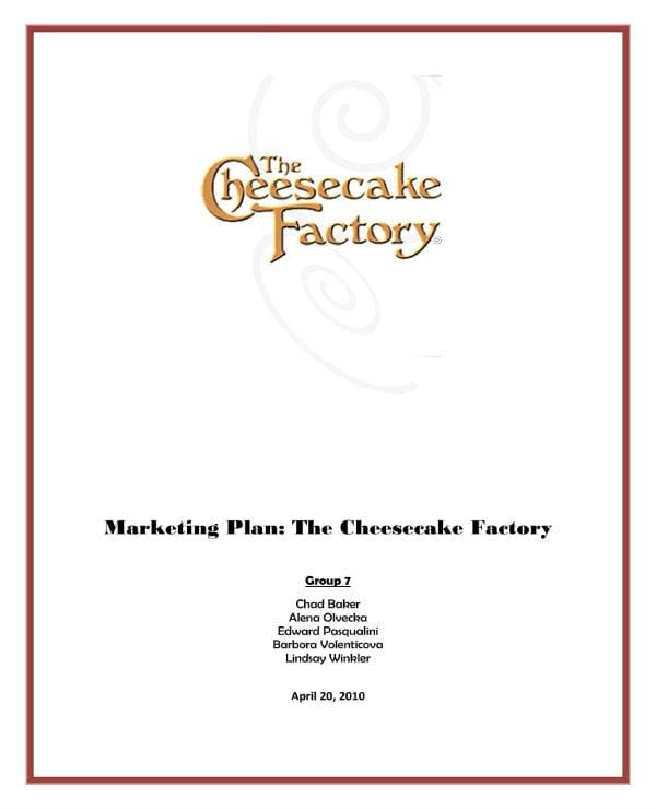 cheesecake bakery marketing plan 01