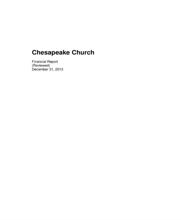 chesapeake church financial report 011