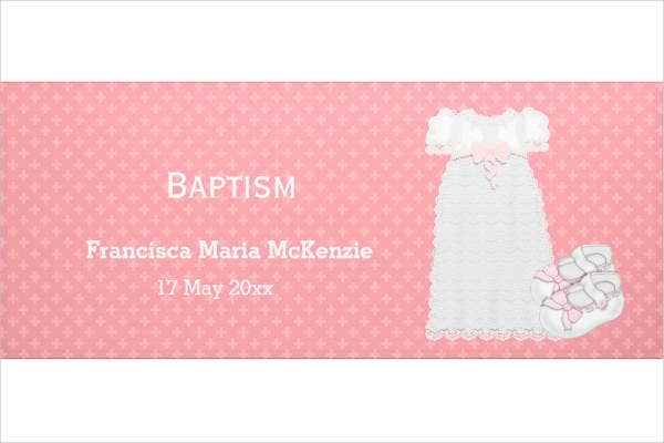 Christening Banner Example