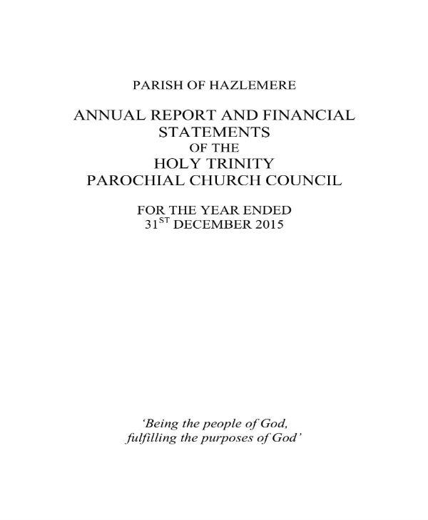 church trustees annual report and accounts 2015 01