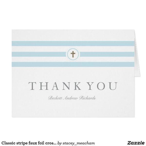 classic religious thank you card design