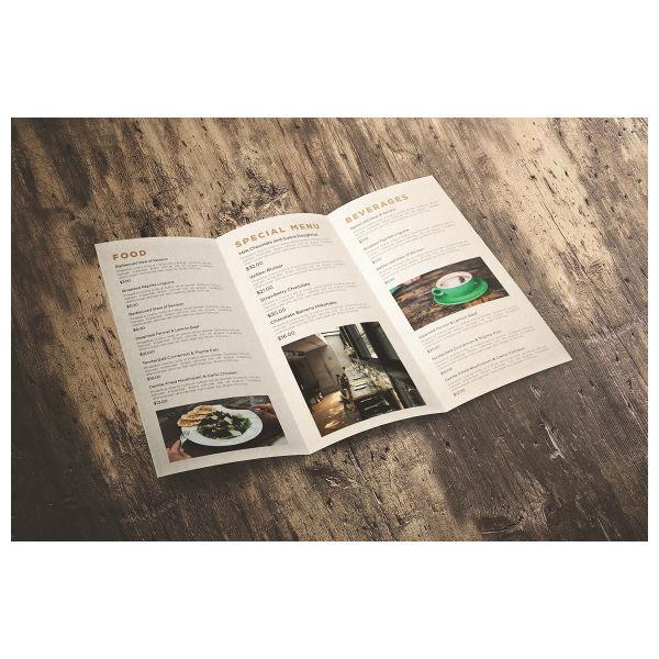 classic trifold brochure menu