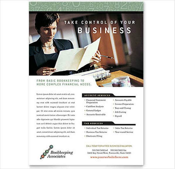 Classy Accounting Firm Flyer Template