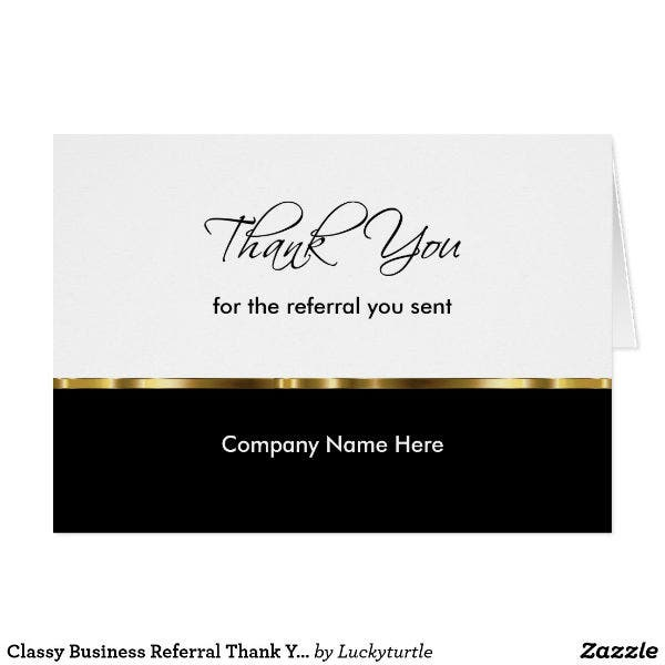 classy professional thank you card template